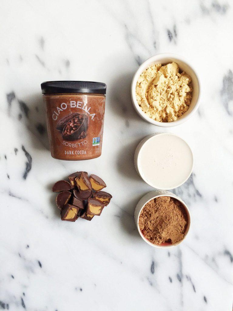 5-ingredient Peanut Butter Cup Blizzard (Dairy & Gluten free)