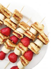PB&J Stuffed French Toast Skewers