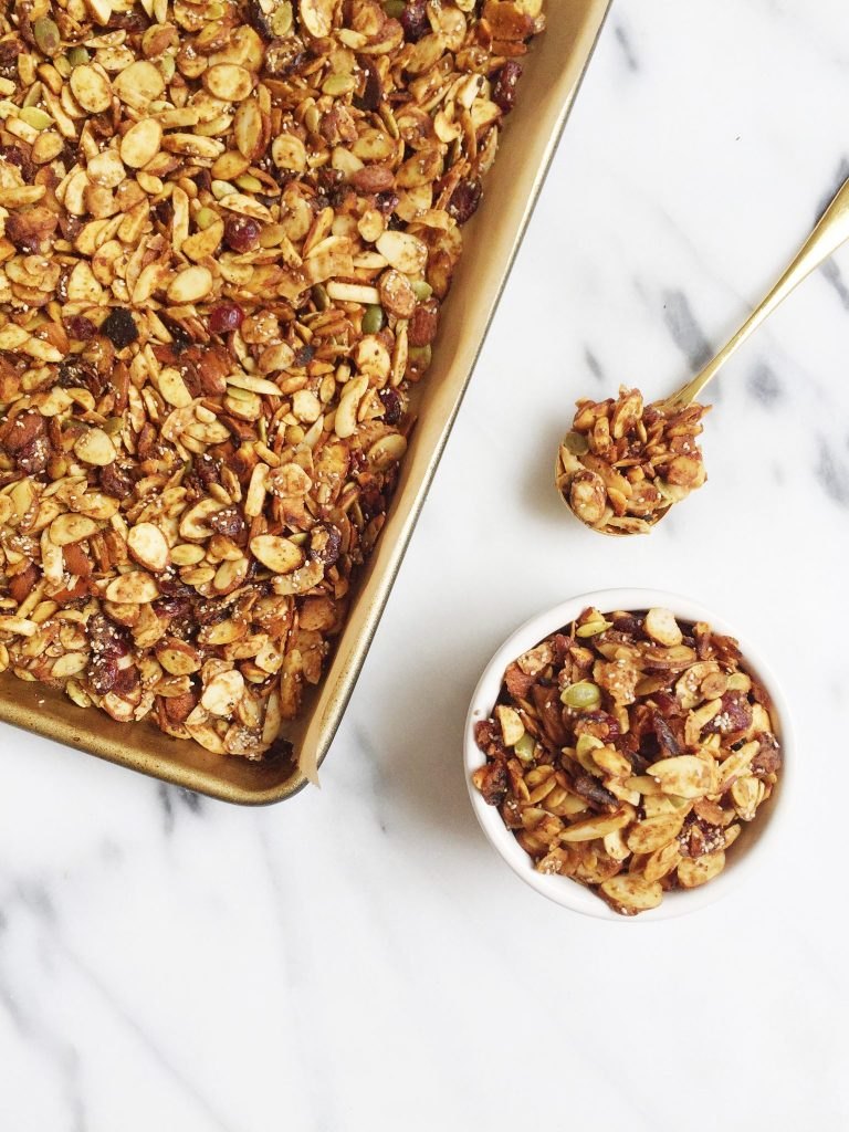 Grain-free Almond Butter and Jelly Granola by rachLmansfield