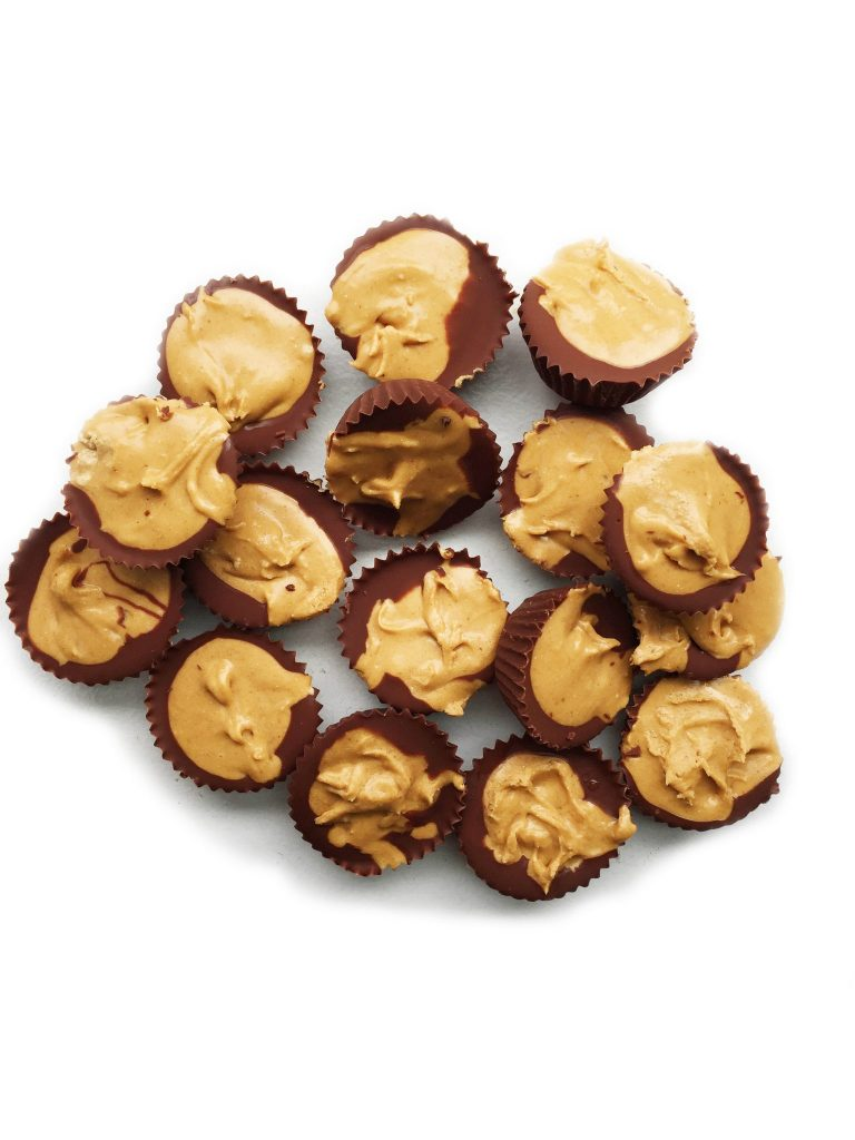 Mini Dark Chocolate Peanut Butter Protein Cups by rachLmansfield