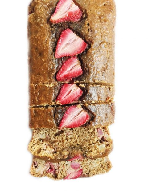 Flourless Strawberry Oatmeal Banana Bread