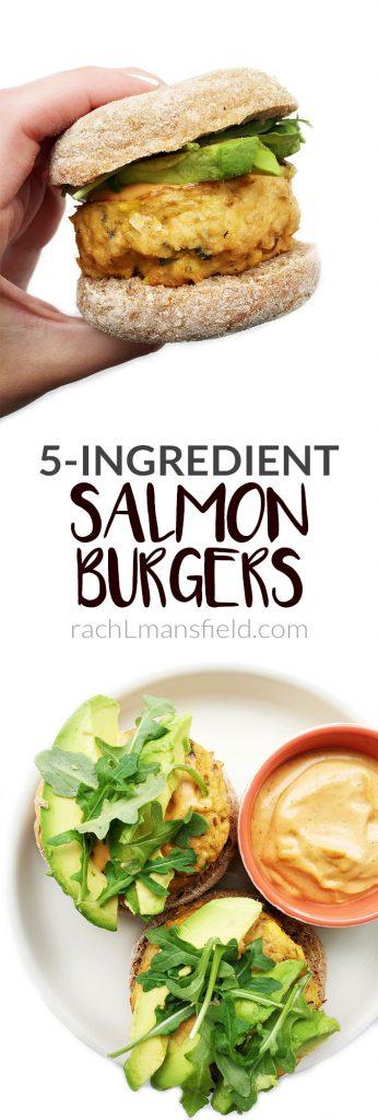 5-ingredient Salmon Burgers by rachLmansfield