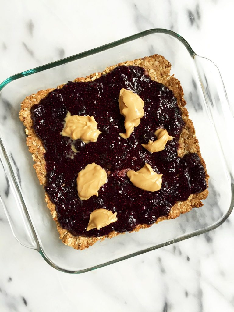 Almond Butter & Jelly Breakfast Bars by rachLmansfield