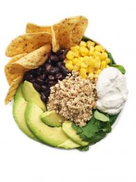 Plant Based Taco Salad with Cashew Sour Cream