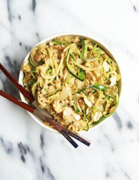 10-minute Pad Thai Zoodles (gluten-free & vegan-friendly)