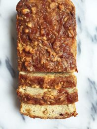 Flourless Peanut Butter & Jelly Banana Bread
