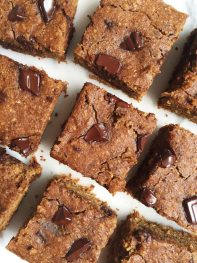 Double Chocolate Chunk Banana Bread Bars