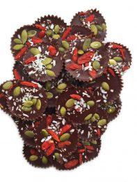 Bite-Size Dark Chocolate Superfood Cups (vegan, paleo)