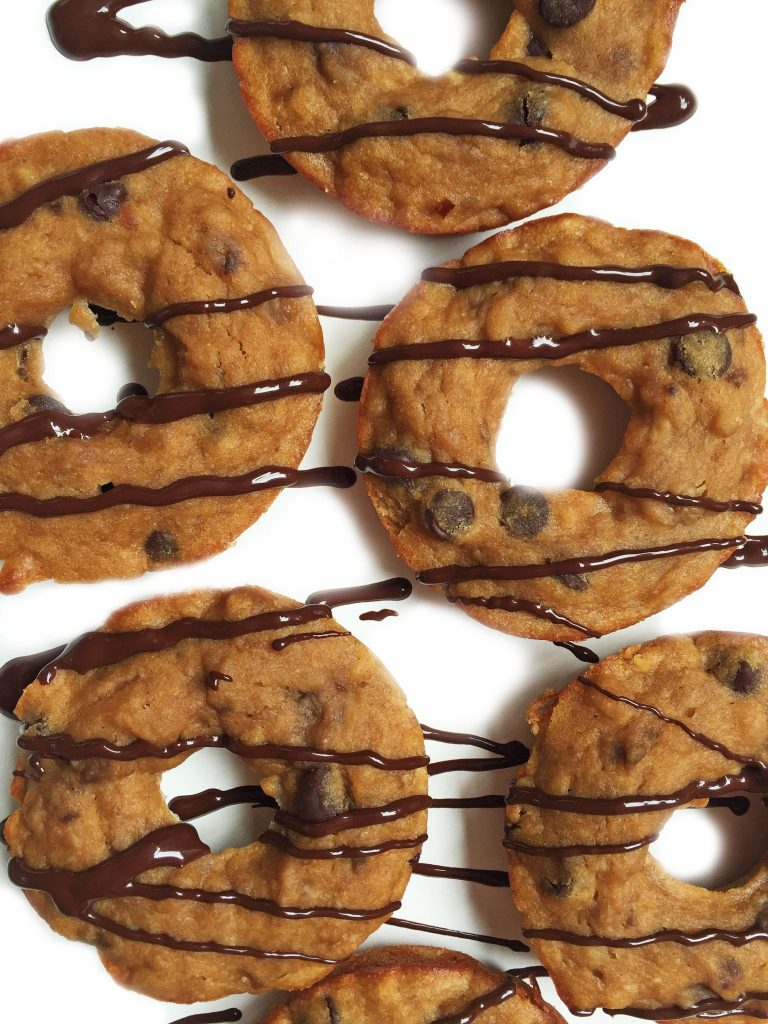 Flourless Chocolate Chip Banana Bread Donuts ready in less than 15 minutes