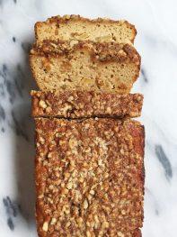 Paleo Cinnamon Apple Streusel Bread