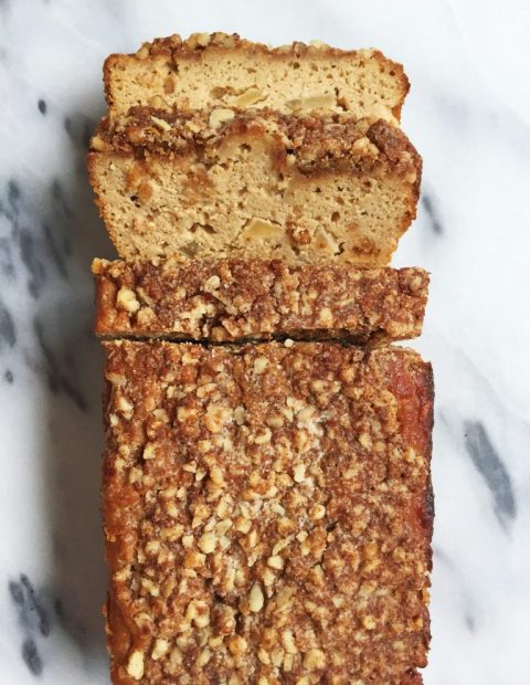 Paleo Cinnamon Apple Streusel Bread