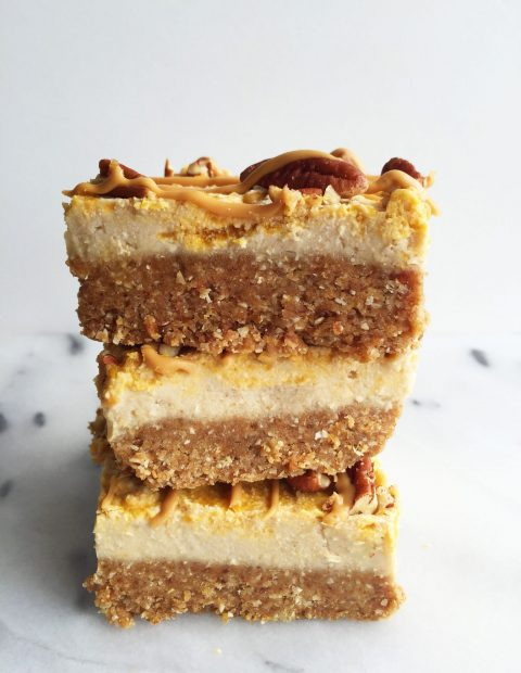 No-Bake Pumpkin Swirl Cheesecake Bars