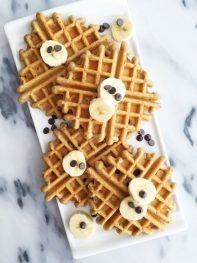 Chocolate Chip Flaxseed Waffles (grain-free & refined sugar-free)