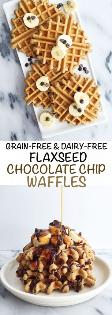 Grain & Dairy-free Flaxseed Chocolate Chip Waffles
