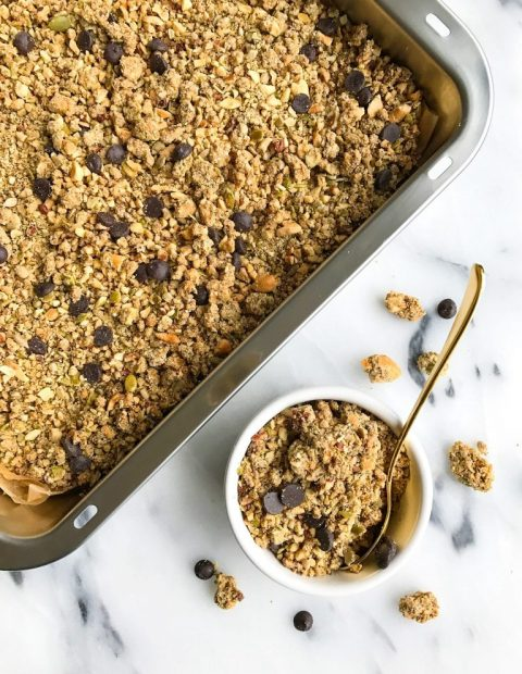 Dark Chocolate Maple Sea Salt Grain-free Granola