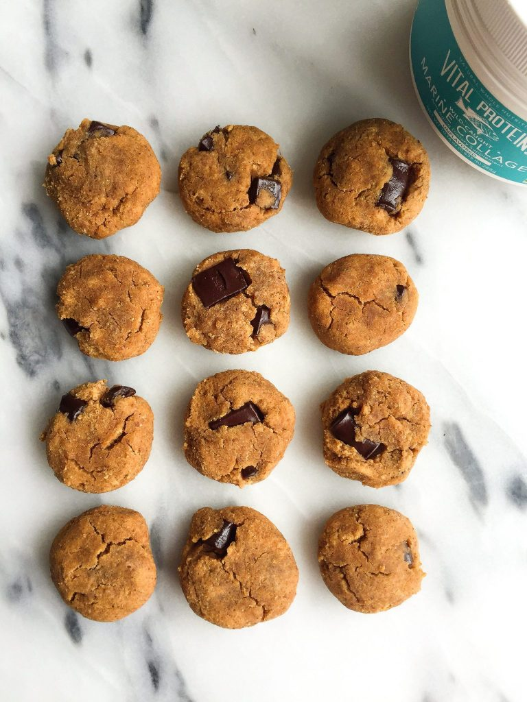 6-ingredient Coconut Flour Chocolate Chunk Cookies that are grain, gluten and dairy-free!