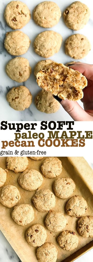 Super Soft Paleo Maple Pecan Cookies