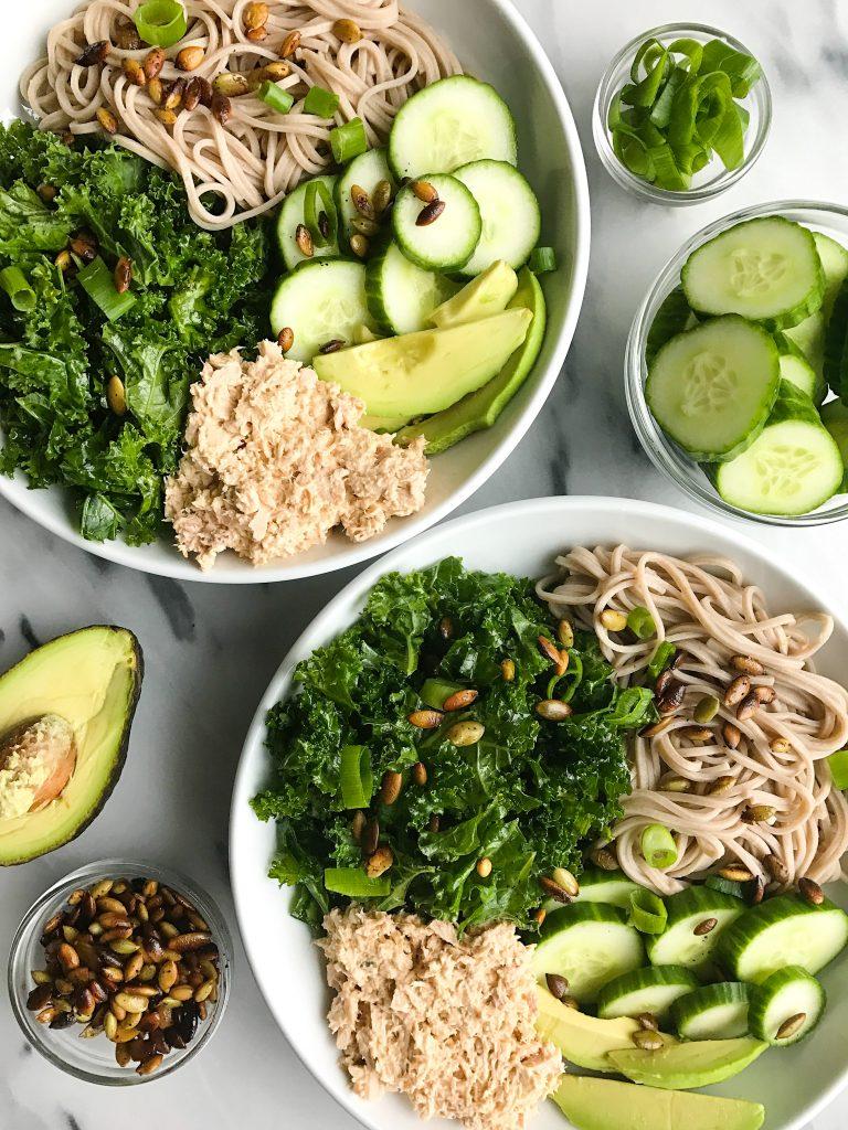 My Go-To Super Simple Tuna Salad Noodle Bowl - rachLmansfield