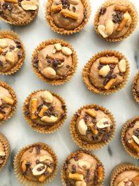 Chocolate Peanut Butter Pretzel Cheesecake Bites (gluten-free)
