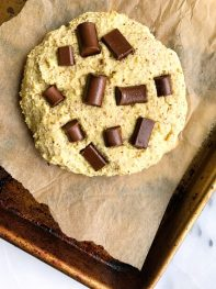 One Giant Paleo Chocolate Chip Protein Cookie (grain-free)