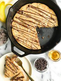 Chocolate Chunk Banana Bread Cookie Skillet (grain-free)