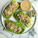 Cilantro + Hemp Seed Tuna Salad on Crispy Toast