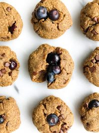 Blueberry Chocolate Chip Breakfast Protein Cookies