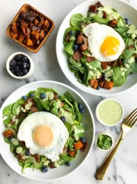Savory Breakfast Salad + Creamy Cilantro Jalapeño Dressing (Whole30)