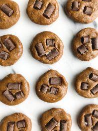 Fudgey No-Bake Chocolate Chip Freezer Cookies