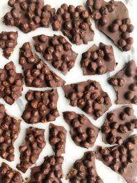 3-ingredient Dark Chocolate Chickpea Bark (vegan)