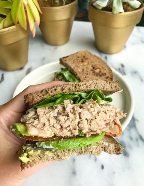 Crispy Bacon Avocado Tuna Club Sandwich