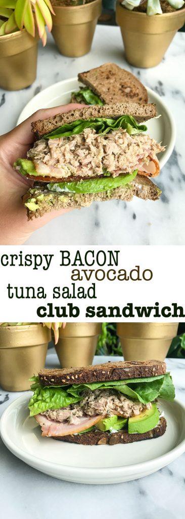 Crispy Bacon Avocado Tuna Club Sandwich for a twist on your usual Turkey Club Sandwich!