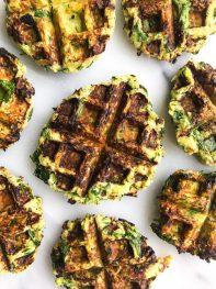 Savory Zucchini Waffle Fritters (gluten-free)