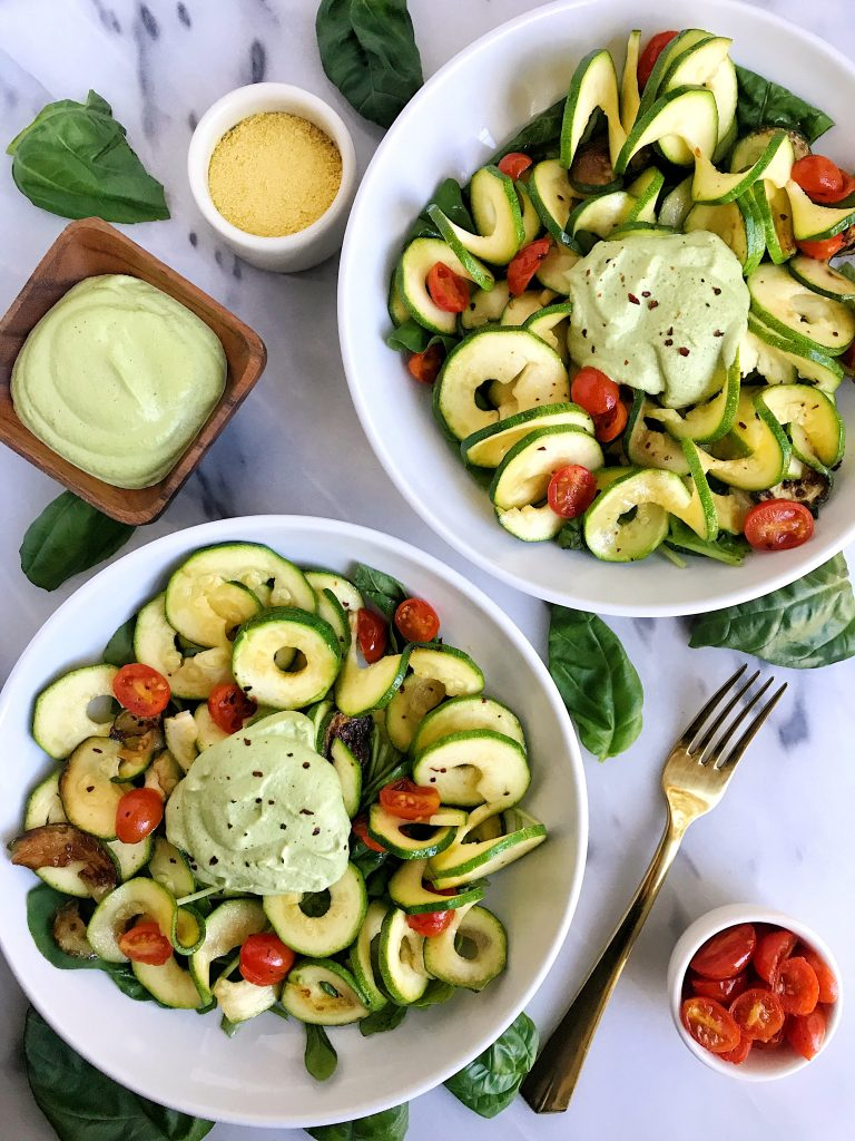 Easy 5-ingredient Basil Alfredo Sauce for vegan and gluten-free sauce recipe!