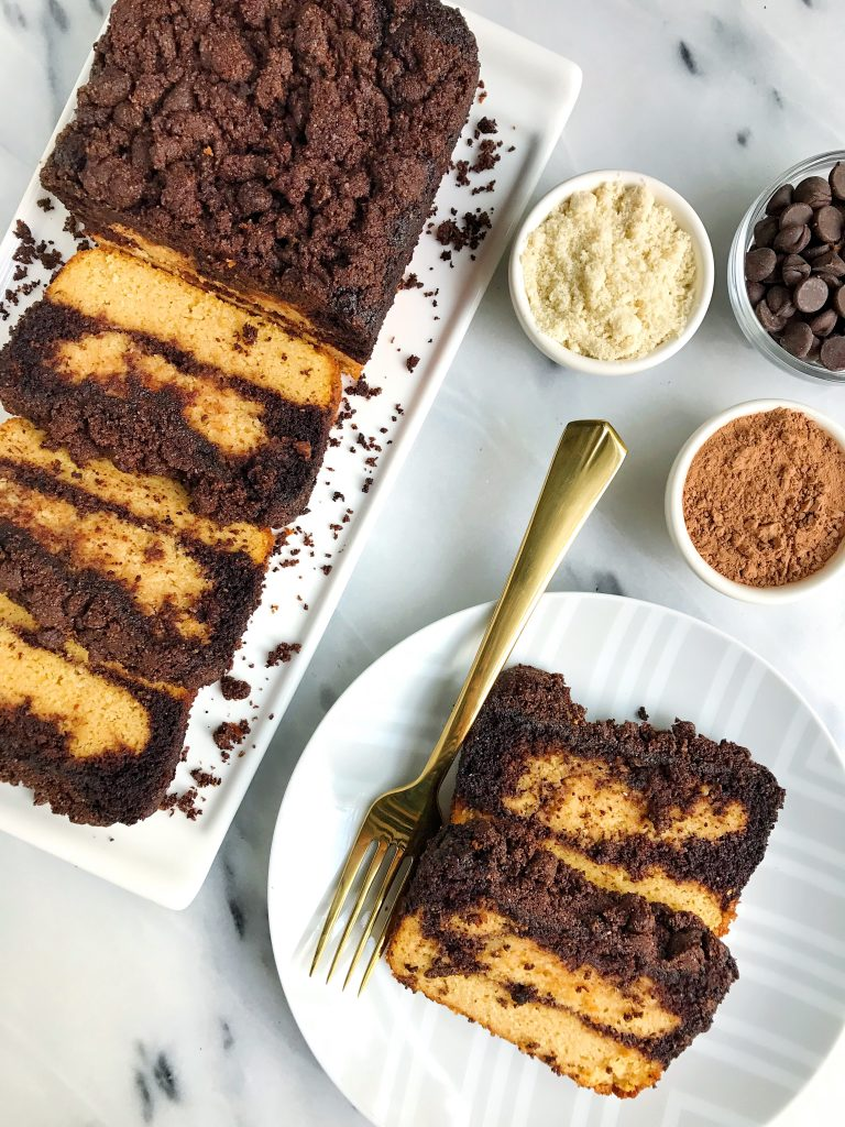 Paleo Dark Chocolate Marble Sweet Potato Loaf for an easy refined sugar-free sweet bread!