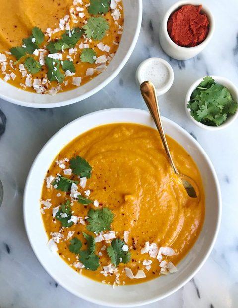 Creamy Thai Kabocha Squash Soup (whole30 + vegan)