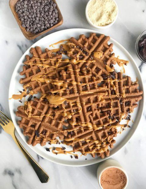 Easy Paleo Cacao Almond Flour Waffles