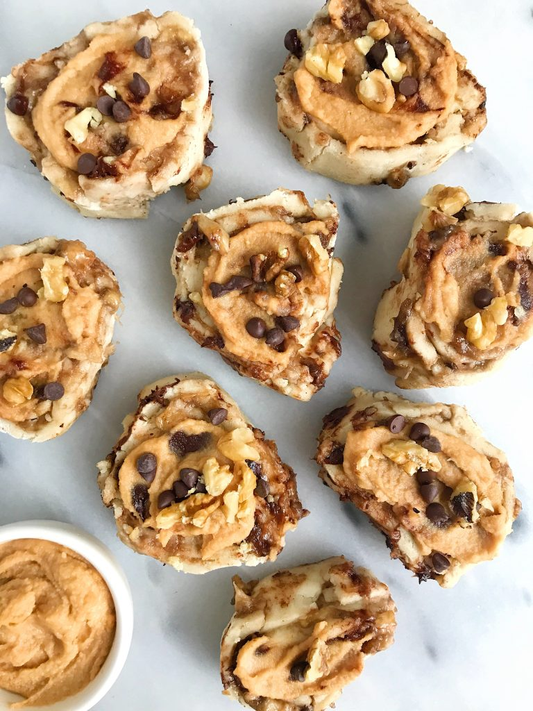 30-minute Healthy Banana Bread Cinnamon Rolls that are gluten-free and easy to make!