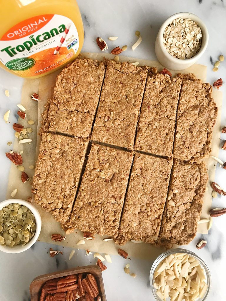 Homemade Vegan Breakfast Granola Bars that are gluten-free and made with oats, nuts and other simple goods!