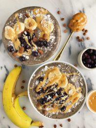 Peanut Butter & Jelly Smoothie Bowls (vegan + gluten-free)