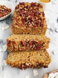 One-Bowl Healthy Vegan Carrot Cake Loaf