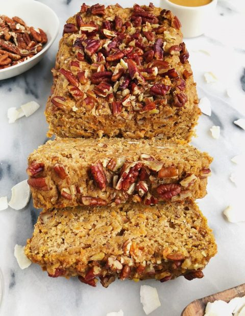 One-Bowl Healthy Vegan Carrot Cake Loaf