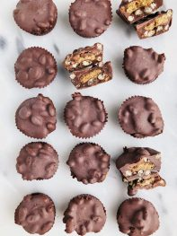 Crispy Dark Chocolate Almond Butter Cups (vegan + gluten-free)
