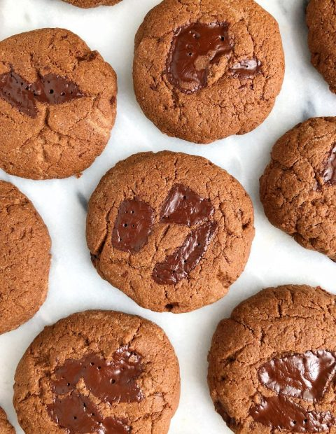 Double Chocolate Coconut Oil Cookies (gluten-free + dairy-free)