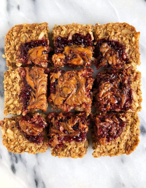 Baked PB&J Oatmeal (vegan + gluten-free)