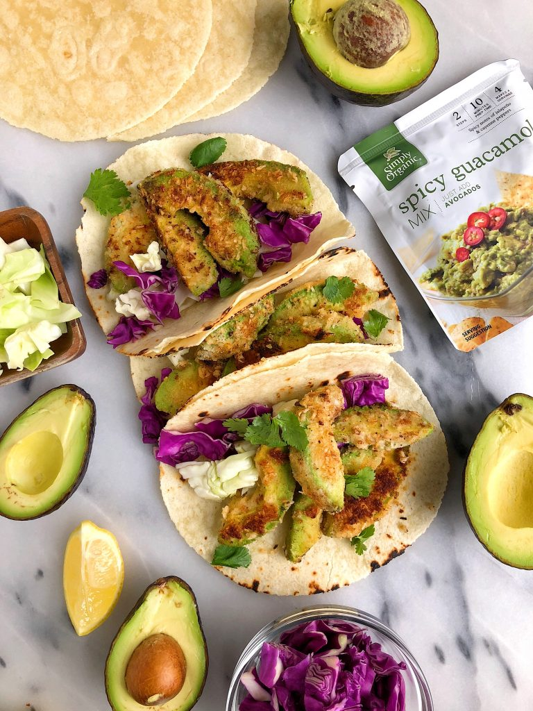 Crispy Baked Avocado Tacos for an easy vegan and gluten-free taco recipe!