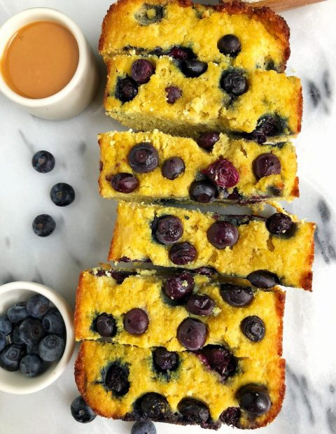 Paleo Lemon Berry Pound Cake (nut-free + gluten-free)