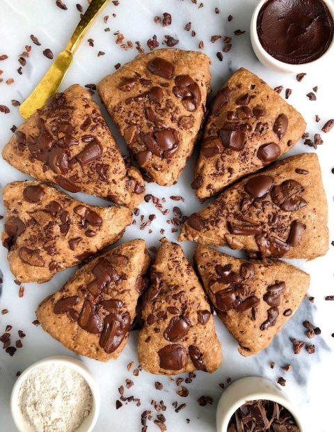 6-ingredient Vegan Chocolate Scones (gluten-free)