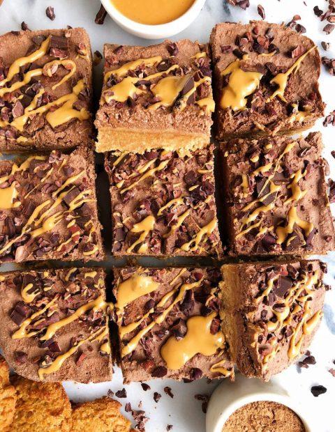Dark Chocolate Peanut Butter Pie Bars (gluten + dairy-free)