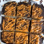 Dark Chocolate Sweet Potato Breakfast Bars made with vegan and gluten-free ingredients for a delicious homemade breakfast and snack bar!